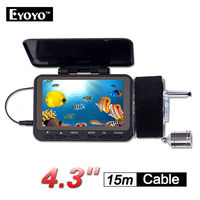 EYOYO 15m 4.3 LCD Underwater Video Camera Fish Finder w/DVR Function Ocean Boat With 8PCS IR LEDS Free 2200mAh Battery