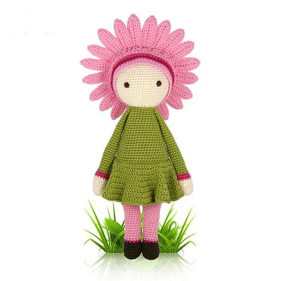 "Crochet amigurumi boneca "" do Gerbera Gemma """