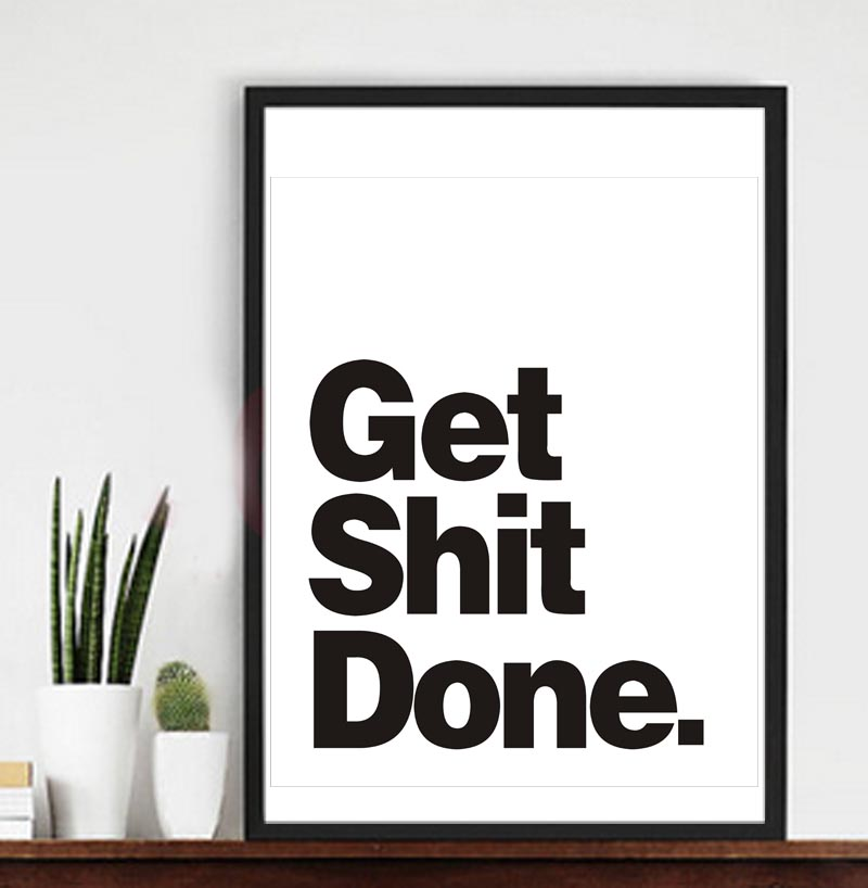 framed office wall art. A3 Get Shit Done Canvas Art Print Wall Posters, Home Decoration Picture Framed Office A
