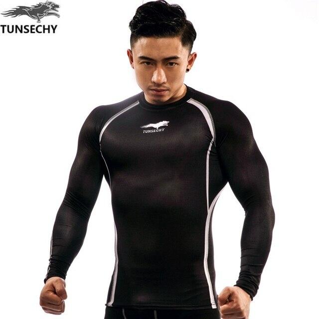 371eb0bce4 TUNSECHY Tops Da Marca Novos homens fitness musculação muscular exercício  Casual t shirt dos homens de