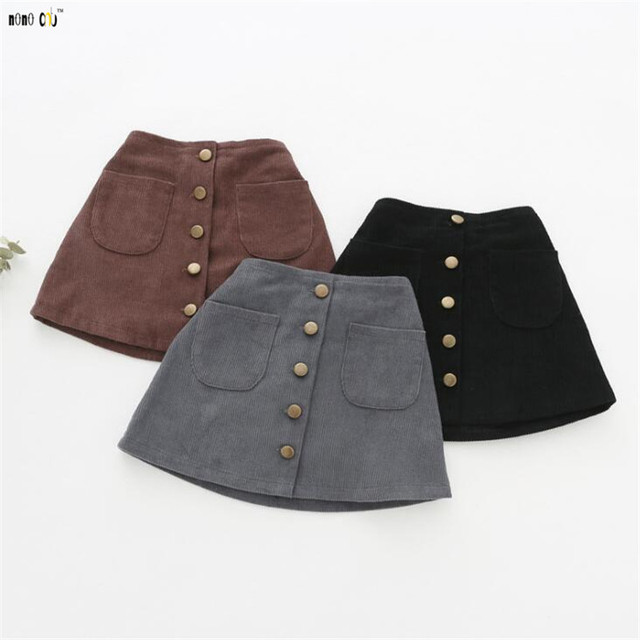 4db43e5834cc2 Girl Clothing Kids Corduroy Skirt 2018 Autumn Winter Solid All-match A-line  Skirts For Girls Children Clothes 1 2 3 4 5 Years