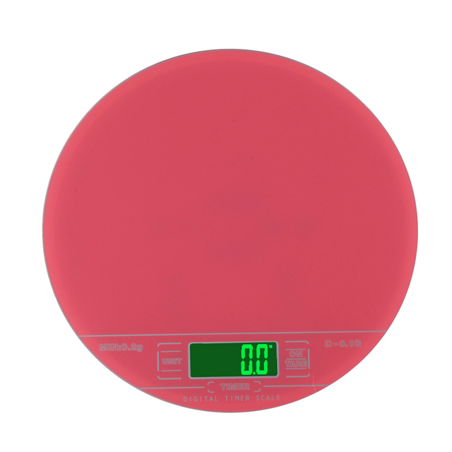 Double Range LCD Electronic Scale Digital Kitchen Scales Clock Timer Red  Electronic Kitchen Food Diet Scale