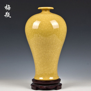 Jingdezhen ceramic vase kiln crack glaze on the jun mei bottle ceramic furnishing articles