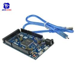 Плата управления Due R3 SAM3X8E, 32-битная ARM плата управления, модуль с кабелем Micro USB для Arduino DC 3,3-5 В