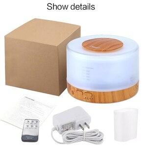 Image 5 - 500 ミリリットルアロマディフューザーエッセンシャルオイル空気加湿器 led ナイトライトのための超音波クールミストアロマエッセンシャルオイルディフューザー