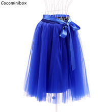 Cocominibox Women's 6 Layered Ballerina Tutu Skirt Tulle Pettiskirt Party Wedding Bridal Peagent Ball Gowns