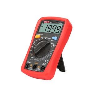 Image 4 - Mini multímetro digital ncv UNI T ut33d +, mini multímetro digital 600v ncv tamanho da palma do tamanho manual ac dc voltímetro e amperímetro, testador de resistência capatitance