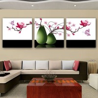 Butterfly Loves Flowers Pattern Full Diamond Painting European Style Bedroom Wedding Decoration Three Pictures Diamond Paintings
