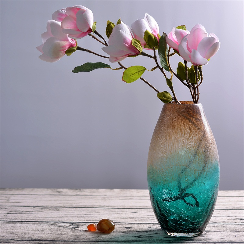 Creative Glass Vase Art Decoration Simple Floral Jewelry Transparent