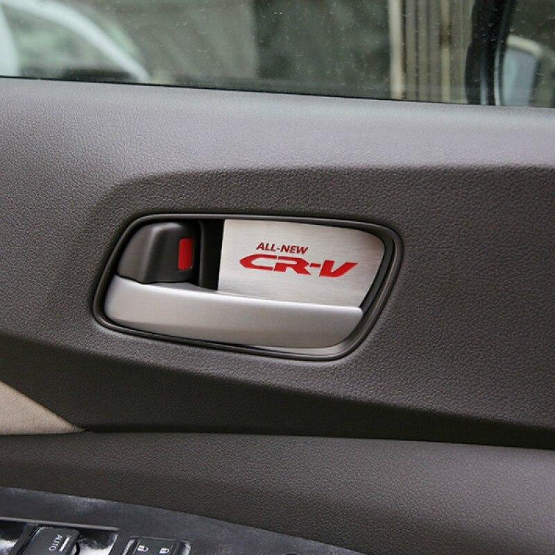 Prix pour 2 couleurs en acier inoxydable intérieur intérieur poignée de porte cover version pour honda cr-v 2012 2013 2014 2015 année