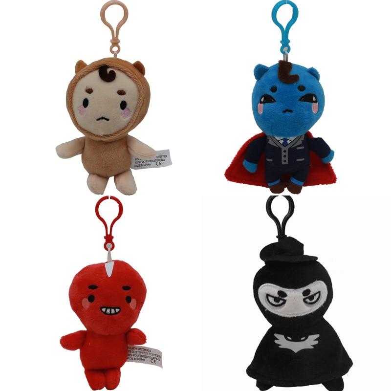 4pcs/lot 10cm Korea Dokkaebi God Alone And Brilliant Goblin Plush Stuffed Toys Plush Pendant Soft Toy Doll for Kids Children