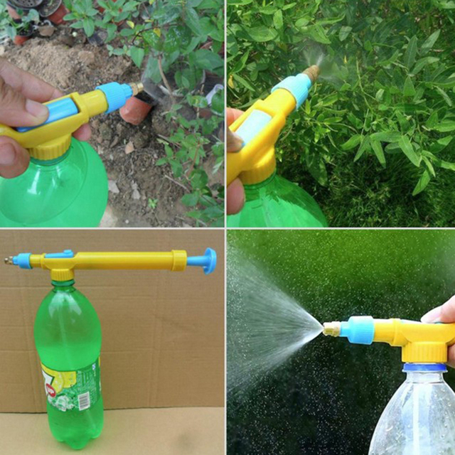 1PCS Top quality Plastic interface juice water mini sprayer gun pressure type bottles interface bottle sprayer For Garden Tools