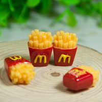 Comida en miniatura de casa de muñecas con patatas fritas, comida para Barbie, cocina, 8 Uds., 1:6, 1/12
