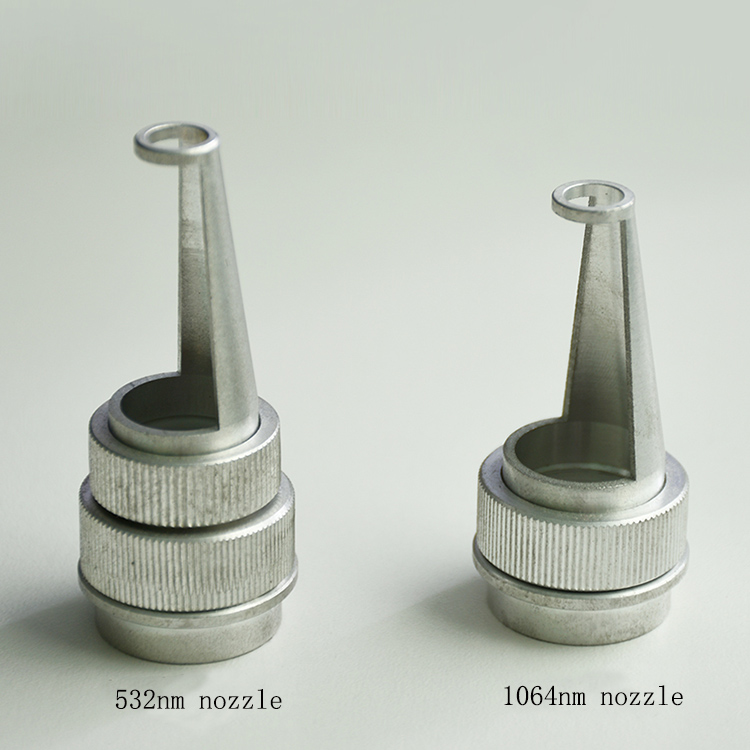 Hottest Q Switched nd yag laser tip head new type 532+<font><b>1064</b></font> <font><b>nm</b></font> laser nozzles free shipping image