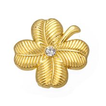 Il mio forma 10pcs di Colore dell'oro Four Leaf Clover fortunato charms regalo di natale(China)
