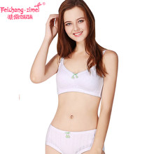 8296109da083 Free Shipping Feichangzimei Girls Underwear Girls Bra And Panties Cotton  White /Apricot A/B