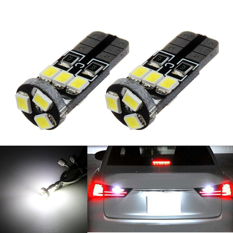 2x super bright T10 2835SMD LED License plate Light No Error for Nissan Juke Micra III (K12) Micra IV (K13) Note (E11)
