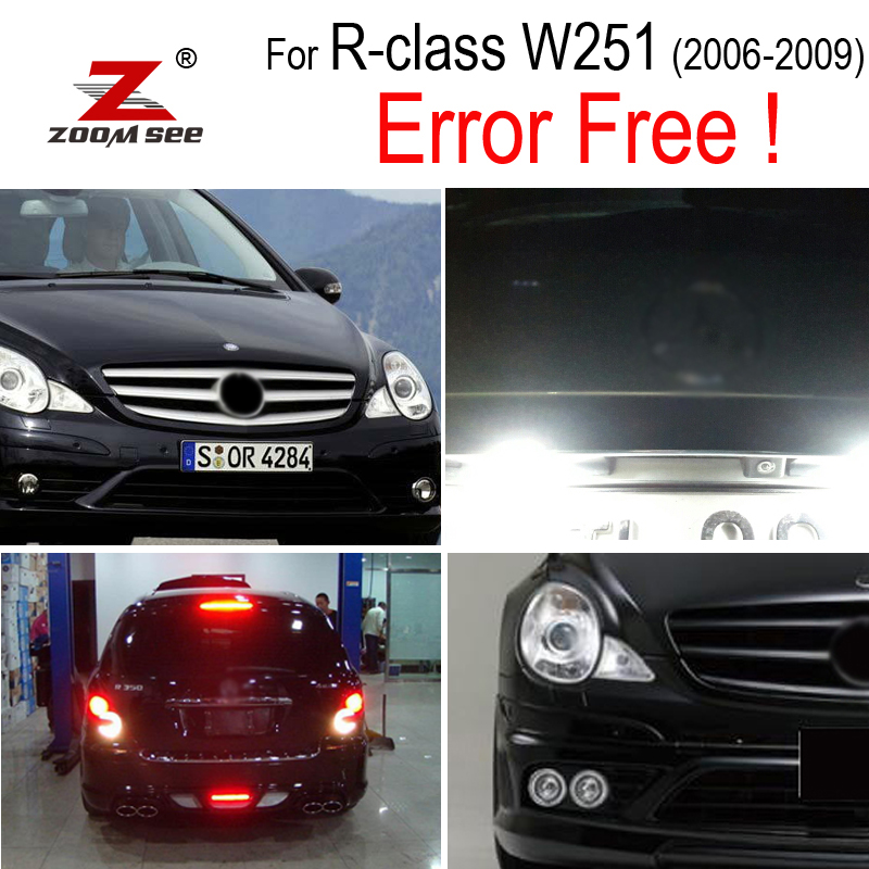 8x LED License Plate Lamp + Parking Bulb + Reverse + Side Exterior Light For Mercedes R Class W251 R280 R300 R350 R500 (06-09)