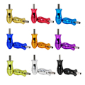 Aluminum Alloy Tattoo Grip With Back Stem 25mm Handle Grip Tattoo Machine Tube Tip Kit Multi Color 1PC