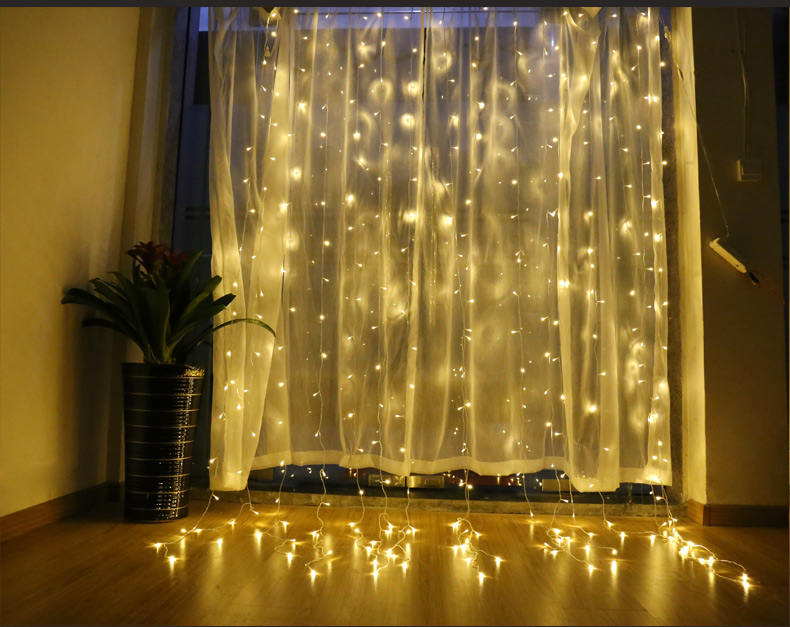 AC220V 3M x 2.5M 192LED New Year Christmas Garlands String Christmas <font><b>Light</b></font> Party Garden Wedding Decor Curtain fairy <font><b>Lights</b></font>