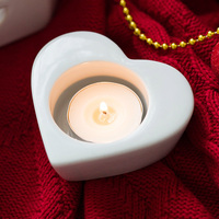 Silicone Mold Concrete Candle Holder Moulds Heart Shaped Candlestick Molds Cement Candelabrum Mold For Home Decorations