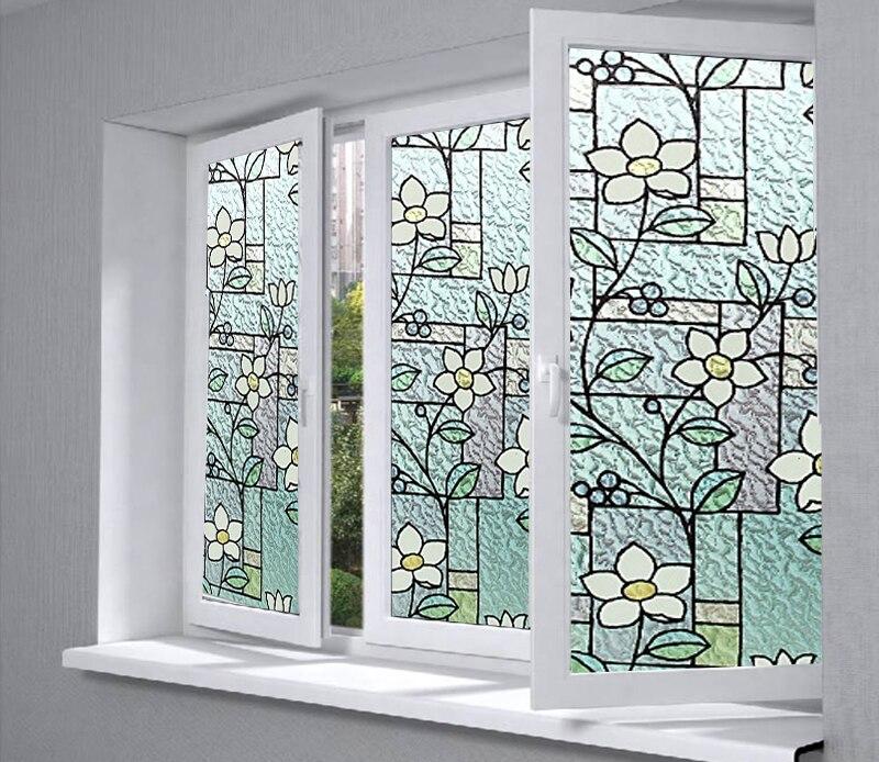 Élégant Coloré 2D Imprimé Statique S'accrochent Window Film Teinté Verre Papier Décoratif Dépoli Vinyle En Gros Prix BZ95-Y07