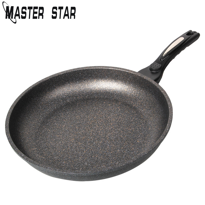 Master Star 28CM Chinese Medical Stone Frying Pan Korean Style Non-stick Pan Gas Cooker Pots Skillets