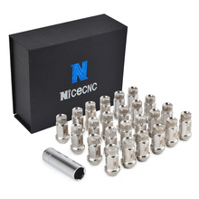 NICECNC 20PCS Trail Wheel Lugs Nuts M20x0.5 Drift Rim Lug Chrome Nut T304 Stainless Steel Bolts For Mercury Mountaineer JDM Dub