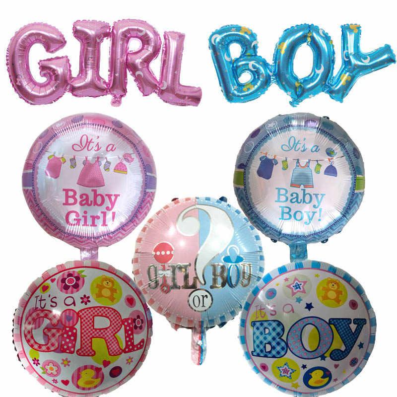 1 sztuk 18 cal Baby Shower dziewczyna chłopiec balony foliowe nowo narodzonych dzieci różowy niebieski urodziny dekoracje świąteczne powietrza globos kulki globos prezenty