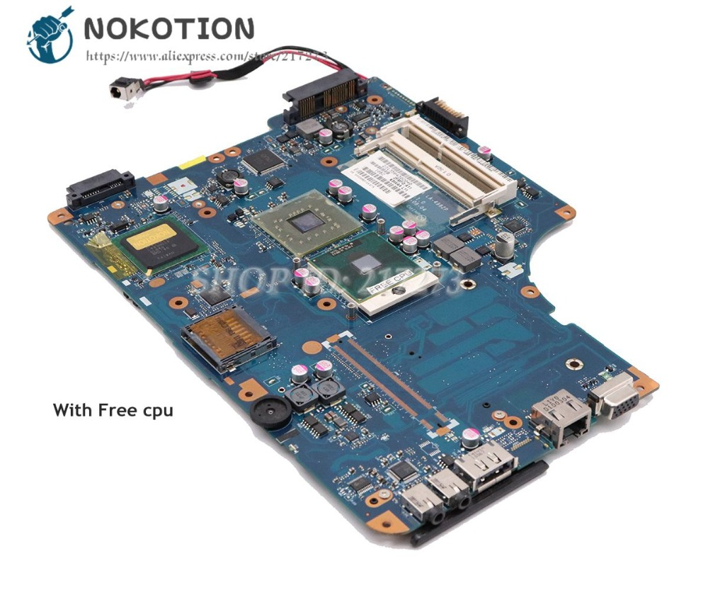 NOKOTION For Toshiba Satellite L500 L550 Laptop Motherboard K000093620 KSWAA LA-4982P without graphics slot Free cpu laptop motherboard for toshiba satellite l550 l555 k000092150 la 4982p kswaa 46179151lb2 100