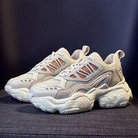 2019 женские кроссовки на платформе; модные повседневные ботинки с массивным каблуком 5 см, увеличивающие рост; Chaussure; обувь для похудения