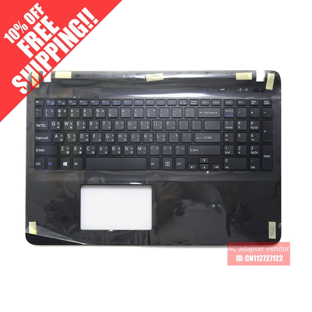 цена на FOR Sony SVF15 FIT15 SVF152 SVF153 SVF1541 keyboard with shell plamrest