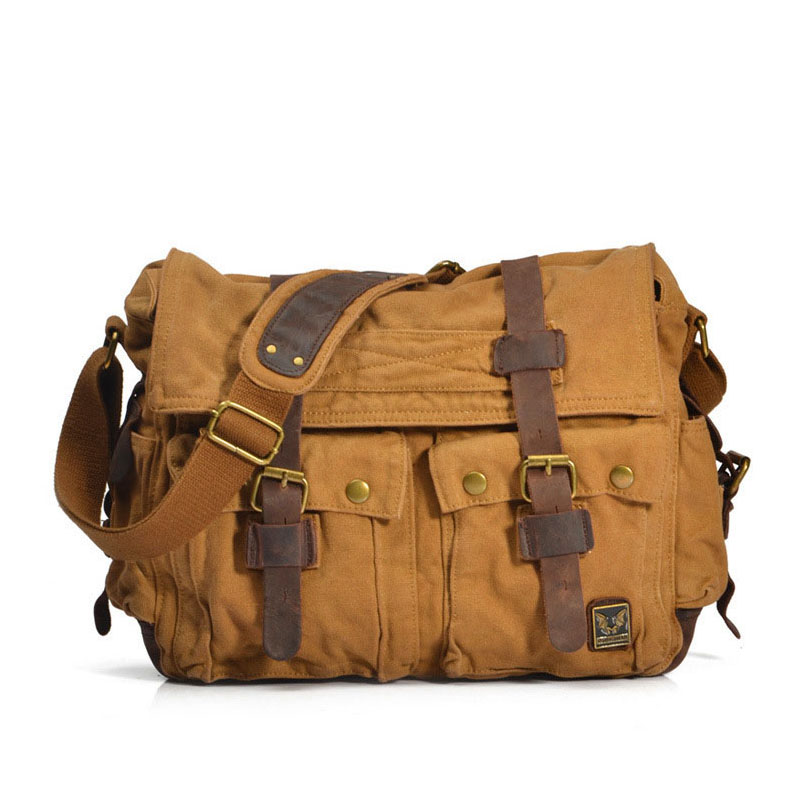 Men Women Casual Briefcase Business Shoulder Bag Men's Messenger Canvas Bag Vintage Style Travel Handbag bag