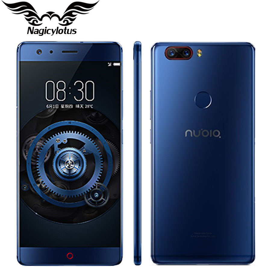 Original Nubia Z17 4G Borderless Mobile Phone 5.5' Snapdragon 835 OctaCore 8GB RAM 128GB ROM DualCamera Android 7.1 Waterproof