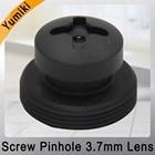 Yumiki 3.7mm lens Black color Screw lens Board lens M12 LENS FOR CCTV Security Camera