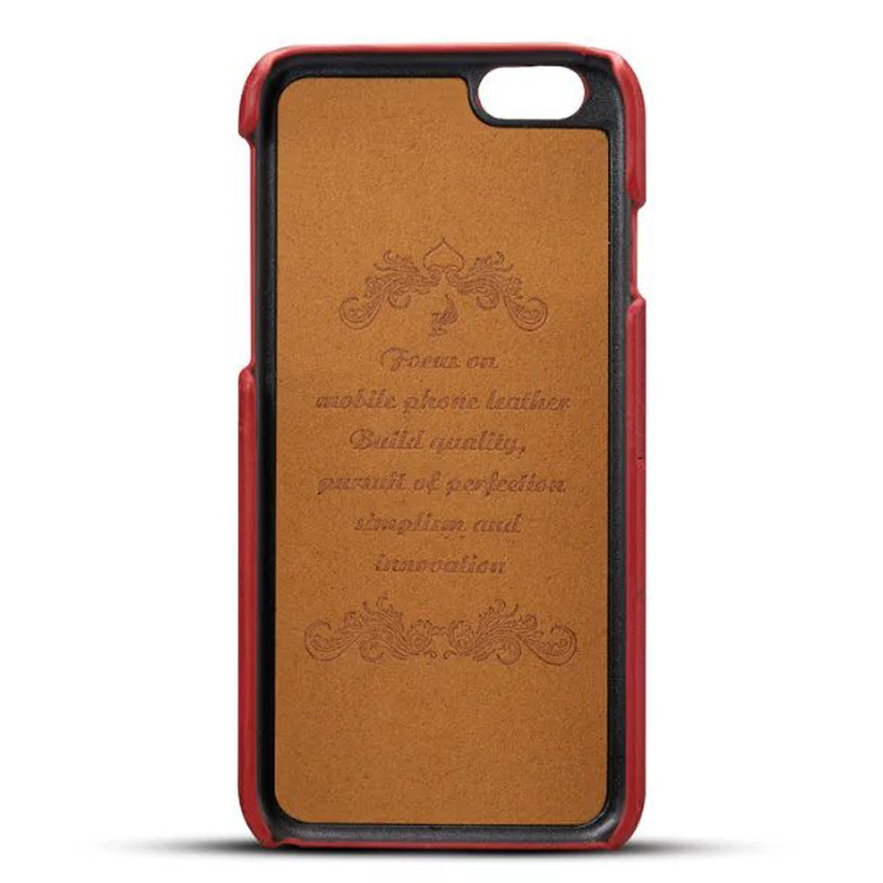 Luxury Leather Case for iphone 8 8Plus X Retro Business Style Card ...