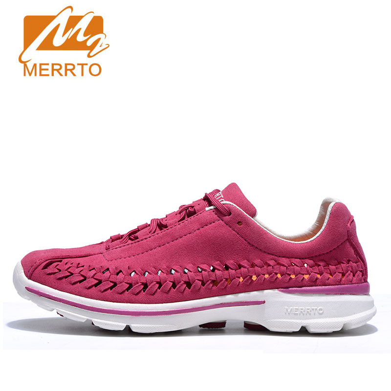 MERRTO Women's Portable Soft Sole Running Shoes Anti Slip Breathable Simple Outdoor Sports Shoes Genuine Leather Sneakers Female swyivy women sports shoes anti slip thick sole running shoes 2018 summer mesh breathable lace up female sneakers comfortable
