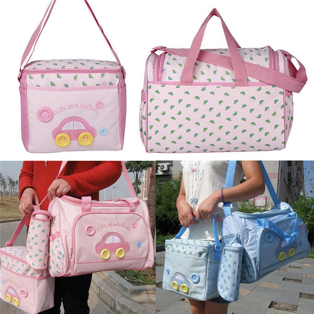 7b1e275f7526 4pcs set Baby Diaper Bag Mummy Changing Bag Baby Nappy Bag Maternity Nappy  Bags Sets Multifunction Bag