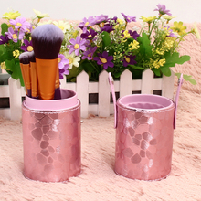 Pro 1Pcs Empty Makeup Brushes Kits Leather Cup Holder Comestic Brushes Organizer Case 8 Style To Choose 2016 New Arrivals