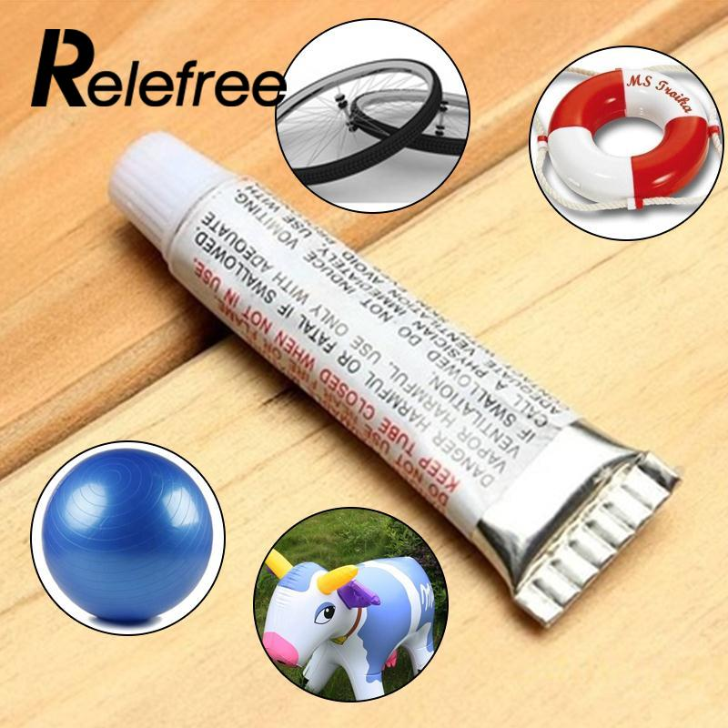 Relefree 1PC Swimming PVC Adhesive Inflatable Repair Glue Tube with Patch Kit for Toys Boat Pool Swim Ring Yoga Ball Stool Chair