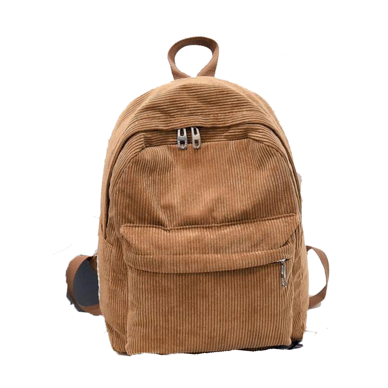 8c9bbdf7c311 Buyuwant Corduroy backpack BW05 BP dxrqdn front pocket men and women  College school bag multi purpose student backpacks-in Backpacks from  Luggage   Bags on ...