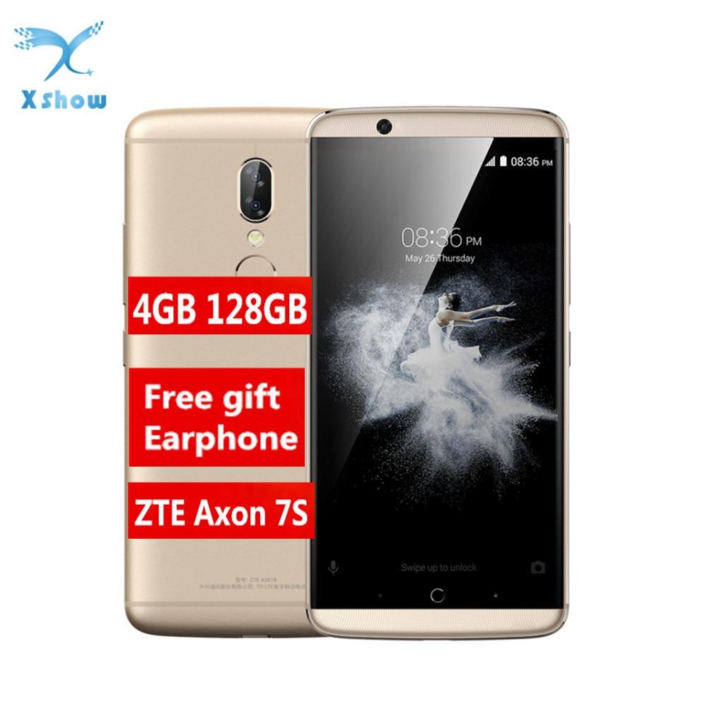 ZTE Axon7S A2018 Axon 7s Smartphone Snapdragon 821 4GB 128GB android 7 1 5 5 2K