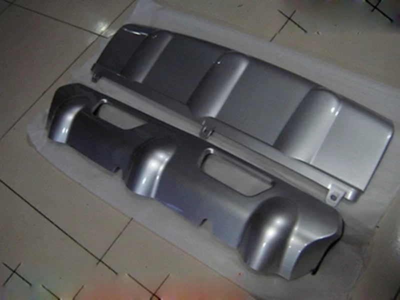 2 PCS métal avant + pare-chocs arrière fond garde protecteur avec clé trou Pour nissan Rogue X-trail 2008-2012 de voiture accessoires de coiffure