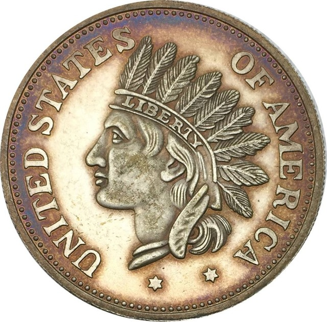 United States Of America 1851 1 Dollar Indian Head Token