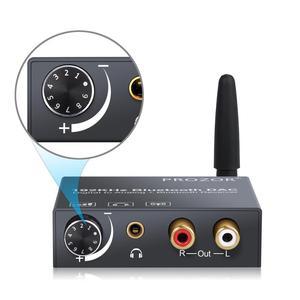 Image 2 - Prozor 192kHz konwerter DAC odbiornik Bluetooth regulacja głośności cyfrowy optyczny koncentryczny Toslink na analogowy konwerter Audio Adapter