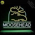 Неоновая вывеска Moosehead неоновая вывеска неоновые лампочки для пивного бара настенная стеклянная трубка ручной работы знаковая вывеска для ...