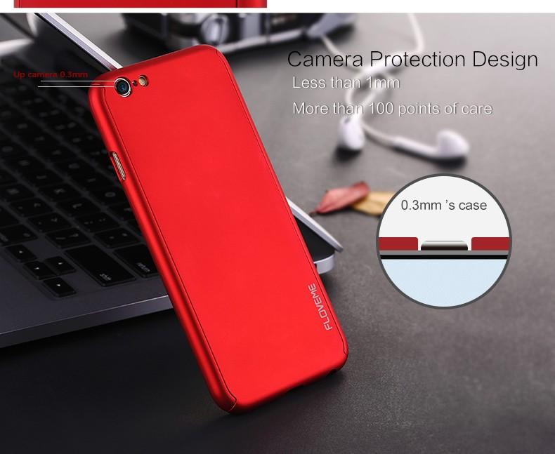 Floveme 6 s 7 plus armor screen protector 360 stopni case dla iphone 7 6 6 s dla iphone 6 6s 7 plus full chroń odporny na wstrząsy pokrywa 8