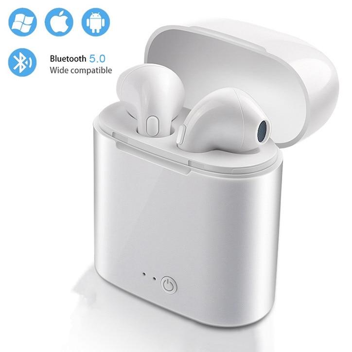 Casque Sans Fil Bluetooth écouteurs I7 I7s Tws Pas Air Stéréo