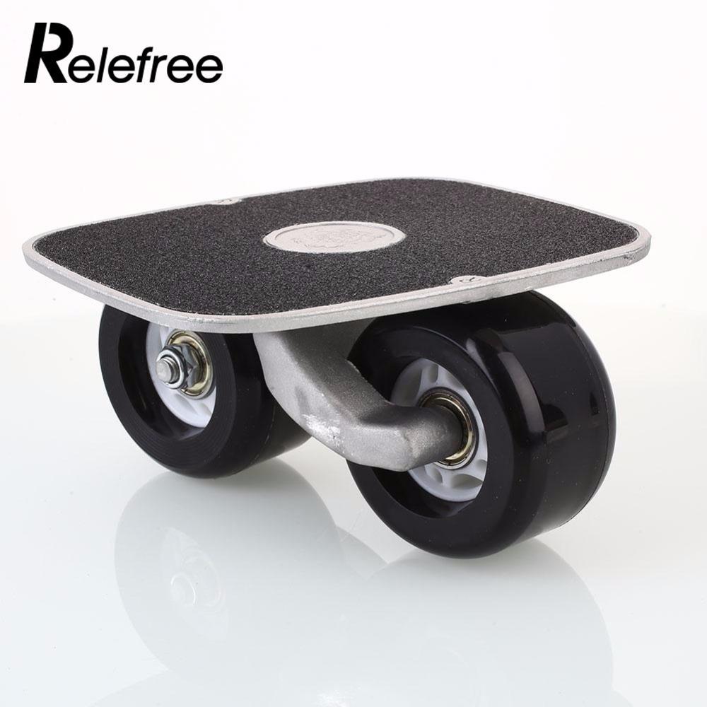 Relefree 2017 Hot 1 Pair Portable Drift Board Skates Skating Skateboard Freeline Roller Road Anti-skid Skateboard Sports