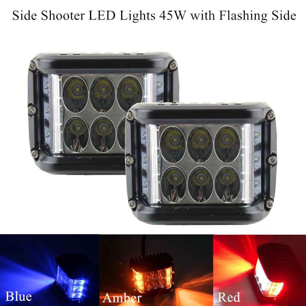 Side Shooter Led Lights 4 Inch 45w Cube Side Shot Pods
